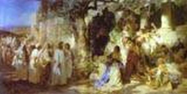 christ and sinner the first meeting of christ and mary magdalene 1873 XX the russian museum st petersburg russia